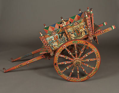 An Ornate & Colorful Italian Processional Donkey Cart, Great Condition