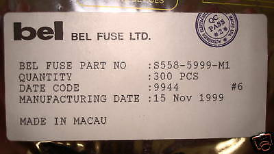 S558-5999-M1 Belfuse Qty 300 Per Fact Reel S5585999M1 Rare Parts