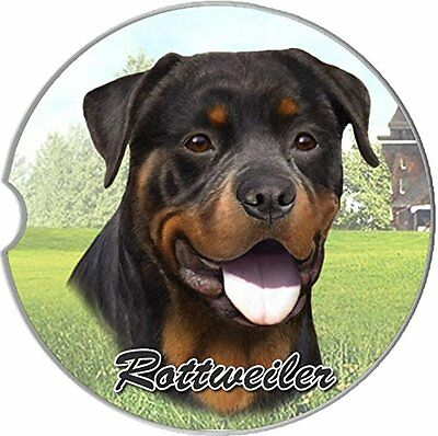 Rottweiler Car Coaster Absorbent Keep Cup Holder Dry Stoneware Dogs New