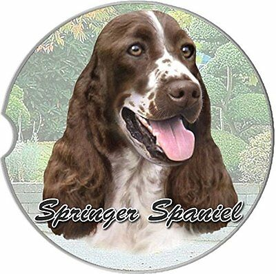 English Springer Spaniel Car Coaster Absorbent Keep Cup Holder Dry Stoneware Dog