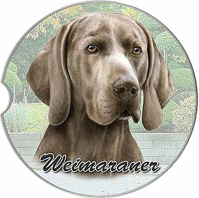 Weimeraner Car Coaster Absorbent Keep Cup Holder Dry Stoneware New Dogs
