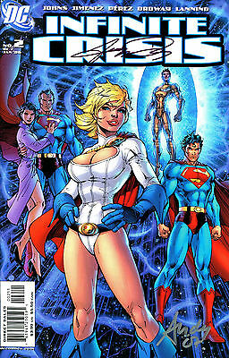 Infinite Crisis #2 Power Girl Signed By Artist George Perez & Andy Lanning (Lg)