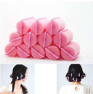 12Pcs Magic Sponge Foam Cushion Hair Styling Rollers Curlers Twist Tool