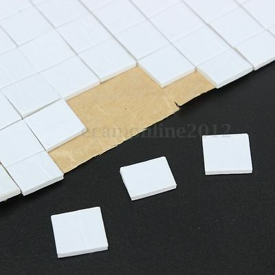 400X 12mm Square Double Sided Self Adhesive Weatherpoof Number Plate Pads Craft