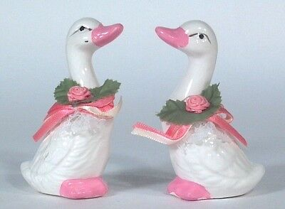 "Mini Victorian Goose Pair 3.5"" Figurine Set Trippies Country Decor"