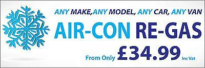 2Ft X 6Ft Any Make Air-Con Re-Gas Pvc Banner - Garage & Workshop