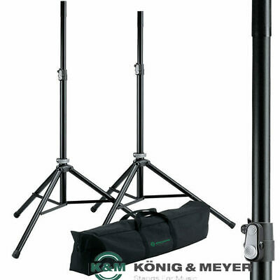K& M 21449  König & Meyer Professional Pair PA Speaker stands with Bag