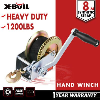 X-BULL 1200LBS Cable Hand Winch Manual 10M Steel Rope Boat Trailer Car Mount