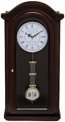 Fox And Simpson Walnut Solid Wood Westminster Chime Pendulum Wall Clock
