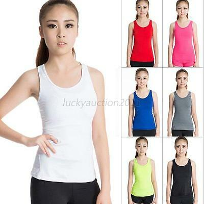 Sexy Women Tank Tops Dry Quick Loose Gym Fitness Sport Running Sleeveless Vest