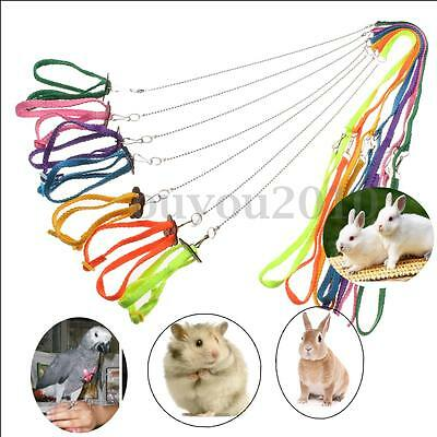 Adjustable Ferret Harness Baby Animal Rabbit Hamster Rat Mouse Leash Lead Bell
