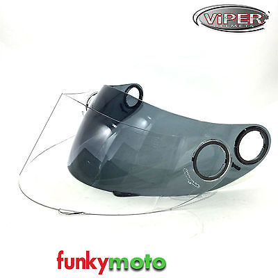 Visor 4 Viper Rs222 Rsv9 Uk59 Speed Shadow Helmets Clear Smoked Replacement