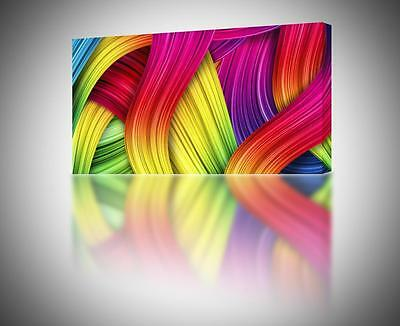 Colorful Abstract 006 CANVAS PRINT Home Wall Art Decor Giclee 4 Sizes