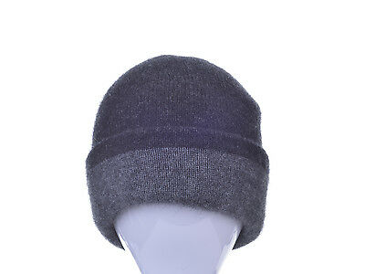 New Zealand Possum Fur Merino Wool Knitwear Two Toned Reversible Beanie 48bae9538fe