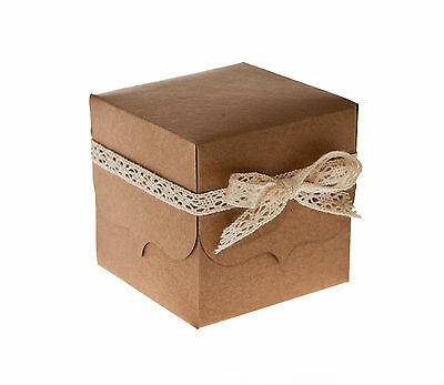 Recycled Kraft Card Wedding Favour Boxes (pack of 50)