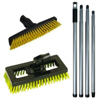 Grout and Tile Cleaning Set - Grout & Deck Brush Set With 4 Way Foldable Handle