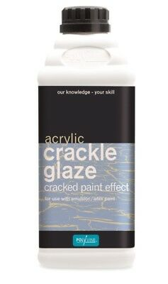 Polyvine Crackle Glaze 500ml, 1l & 4 Litre Easy To Apply Water Based ALL SIZES