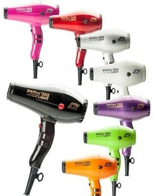 Parlux 385 Power Ionic + Ceramic Pro Hair Dryer + 2 Nozzles - Selected colours