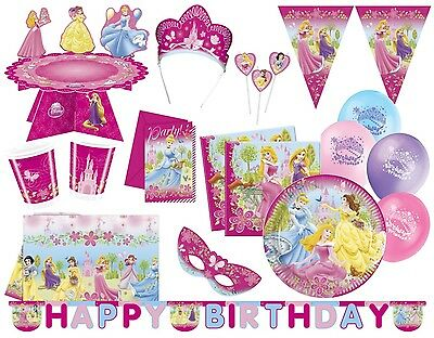 DISNEY PRINCESS - Party Supplie, Decorations, Tableware, Girl Birthday Party