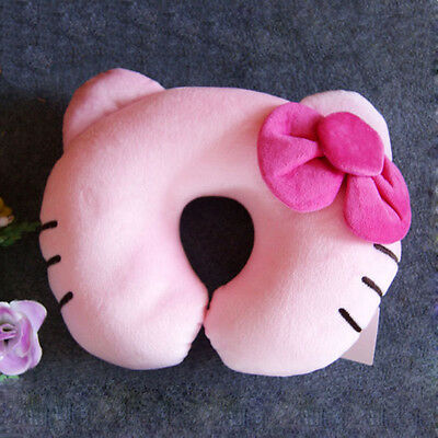U Shape Pillow Neck Support Car Seat Cushion Head Rest Hello Kitty Pink New Soft