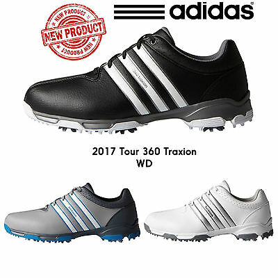 """new 2017"" Adidas 360 Traxion Wd Wide Fit Mens Waterproof Golf Shoes / All Sizes"