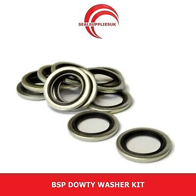 """BSP Dowty Washer Kit - 1/8"""" - 1"""" Selection - Self Centralising - 50pcs"""