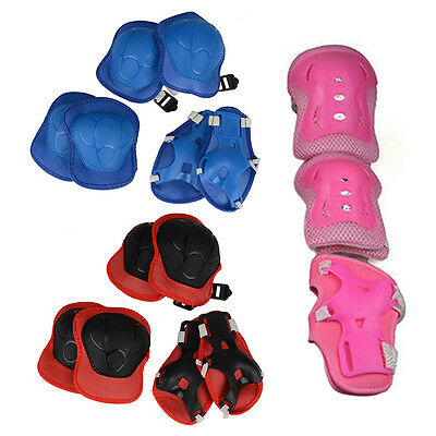 6PCS Skateboard Cycling Bicycle Elbow Knee Wrist Protective Pad Guard Adult Kid