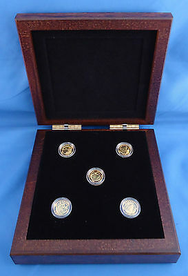 1/10 oz Fine Gold Coins - O Canada 5-Coin Subscription - Mintage: 4000 (2013)