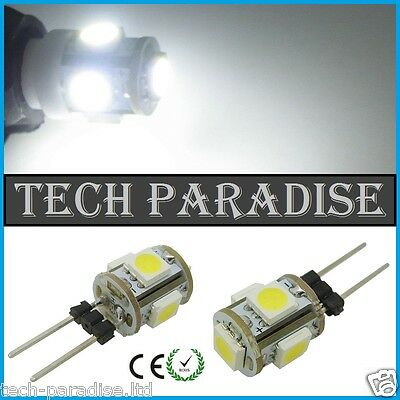 2x Ampoule 5 Led SMD 5050 G4 12V DC Dimmable 2W blanc froid bateau camping...