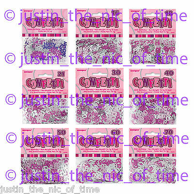 PINK / SILVER GLITZ METALLIC CONFETTI SPRINKLES Birthday Party Decorations