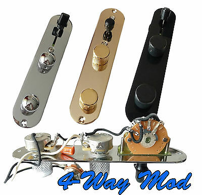 Deluxe Loaded 4 Way Mod Telecaster Tele Control Plate - Hand-Built in the UK
