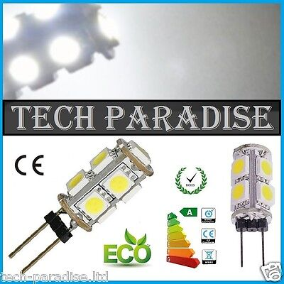 50x Ampoule 9 Led SMD 5050 G4 12V DC Dimmable 3W blanc froid bateau camping..