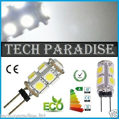 100x Ampoule 9 Led SMD 5050 G4 12V DC Dimmable 3W blanc froid bateau camping.