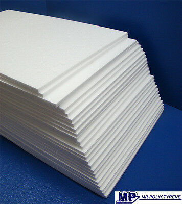 25 Expanded Polystyrene Sheet Ld Grade 600 X 400 X 10Mm