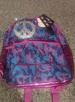 New Purple Camo & Peace Backpack by Fast Forward