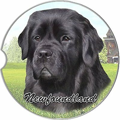 Newfoundland Car Coaster Absorbent Keep Cup Holder Dry Stoneware New Dog Newfie
