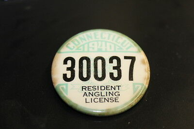 1940 Connecticut Resident Angling License