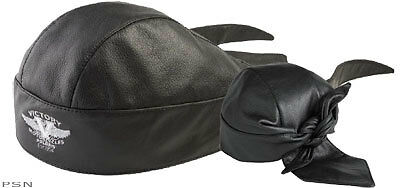 Victory Motorcycle Leather Skull Cap NWT BRAND NEW Leather Hat