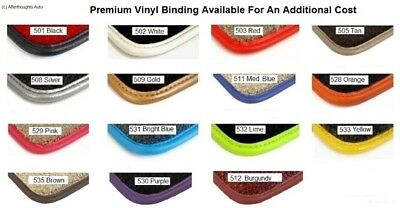 Afterthoughts Auto Optional Premium Vinyl Binding Charge Only On Lloyd Mats