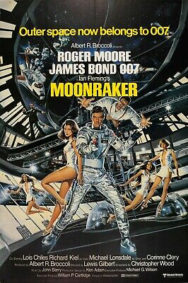 Home Wall Art Print - Vintage Movie Poster - JAMES BOND MOONRAKER - A4,A3,A2,A1