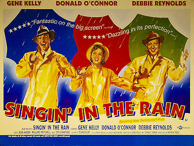 Home Wall Art Print -Vintage Movie Film Poster- SINGIN' IN THE RAIN -A4,A3,A2,A1