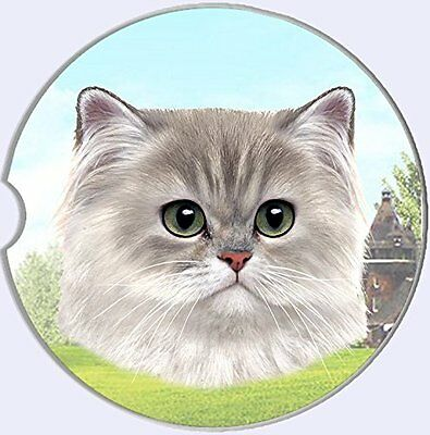 Persian Cat Car Coaster Absorbent Keep Cup Holder Dry Stoneware New Kitten Pets