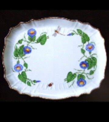 "Anna Weatherley ""morning Glory"" Serving Tray ...rare"