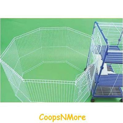 8 Panel Large Exercise Pen Connect To Your Cage For Rabbits Ferrets Guinea Pigs
