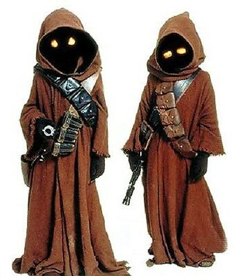 STAR WARS Jawa Costume Eyes Orange or Yellow on/off switch your choice