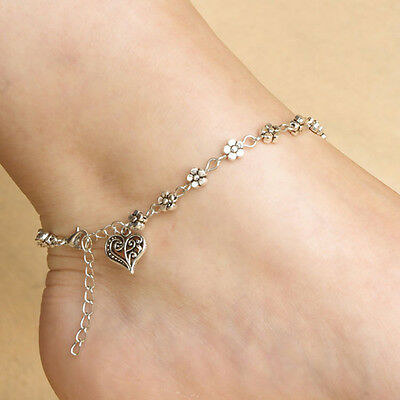 New Silver Chain Anklet Ankle Bracelet Barefoot Sandal Beach Foot Jewelry