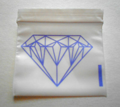 200 Purple Diamond (2x2) Small White Poly Bags (2020) Tiny Ziplock Dime Baggies