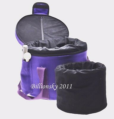 """Padded Carrying Cases for Crystal Singing Bowl - putting 8"""" and 10"""" singing bowl"""