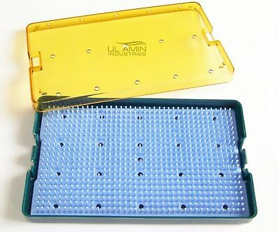Plastic Sterilization Cassette Box Tray Silicone Mat for Micro Ophthalmic Dental