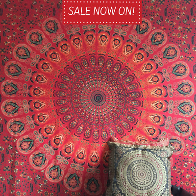 Indian Tapestry Wall Hanging Mandala Throw Hippie Gypsy Cover Bohemian Dorm Twin